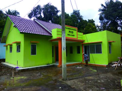 Salah satu bentuk kepedulian pemeritah Desa Cawet dengan adanya pembangunan Pos Kesehatan