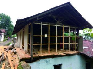 Rumah warga yang direhabilitasi yang berada di Dusun Sipedang